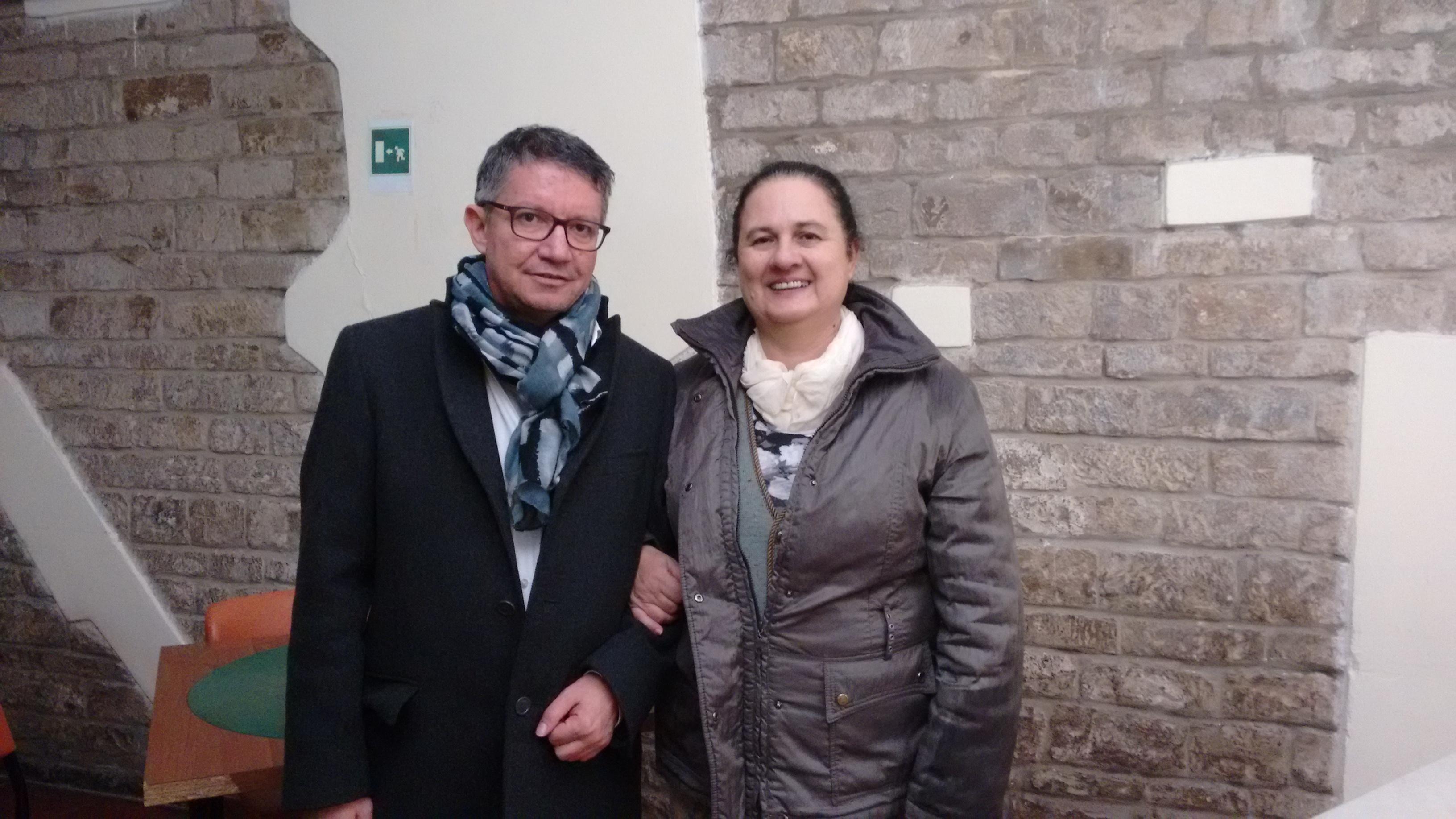 Nicola Tufaro Presidente Circolo di Sant'Angelo a Legnaia e Rita Di Goro, Presidente A.Ge.