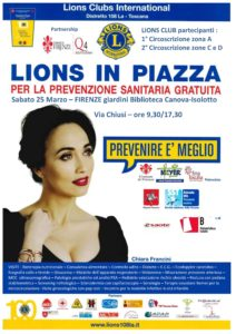 Lions in piazza