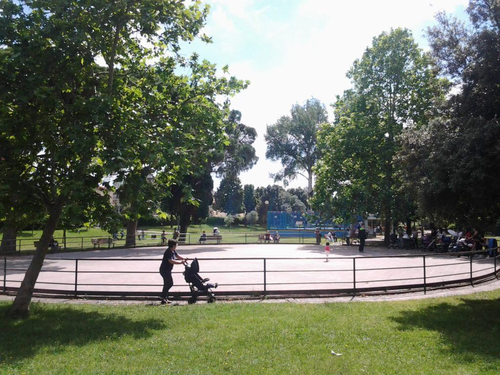Villa Vogel, la pista di pattinaggio, foto d'archivio IsolottoLegnaia.it
