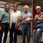 Il Presidente di Quartiere 4 Mirko Dormentoni con i referenti delle associazioni San Bartolo, Iapb e Lions