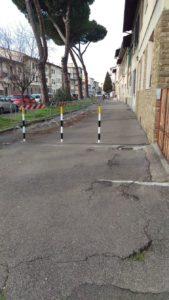 protesta via lunga parcheggi allagamenti transenne (1)