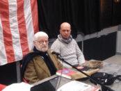 """Il segretario Marco di Bari con il professor Sergio Salvi, storico toscanista, relatore  al ciclo di incontri """"L'Autogoverno s'impara"""""""