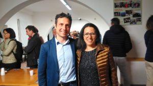 Il presidente di Quartiere 4 Mirko Dormentoni con la presidente Commissione Servizi sociali Ilaria Tesi