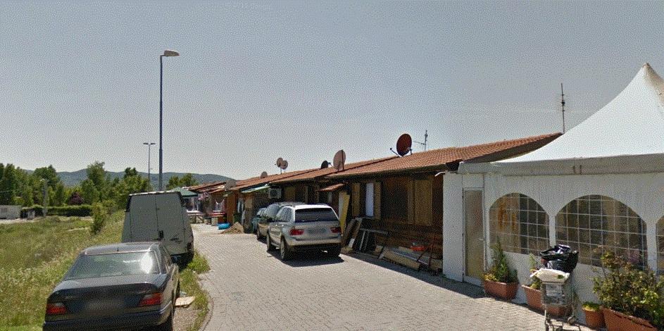 Campo nomadi del Poderaccio. Fonte. Google street view 2014