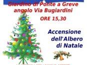 accensio albero di natale via Bugiardini Ponte a Greve