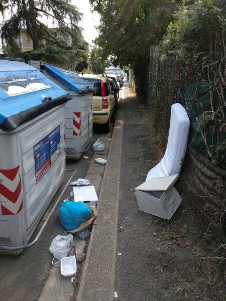 rifiuti fuori dai cassonetti via siena firenze ingombranti (4)
