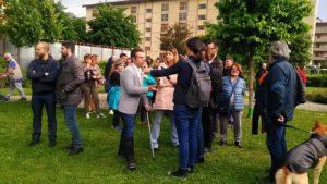 presidio fratelli d'italia e contropresidio sinistre baby gang giardini biblioteca isolotto (1)
