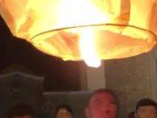 gabriele vadalà lancio lanterna cinese piazza dell'isolotto foto