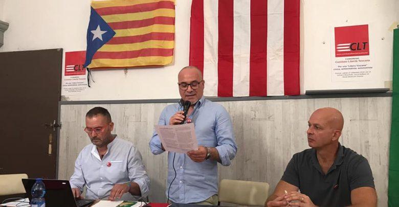 La presidenza del congresso. Da sinistra Mauro Vaiani, Simone Montagnani, Marco Di Bari.