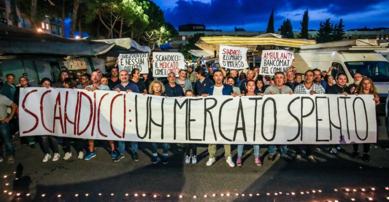 assidea protesta ambulanti mercato scandicci