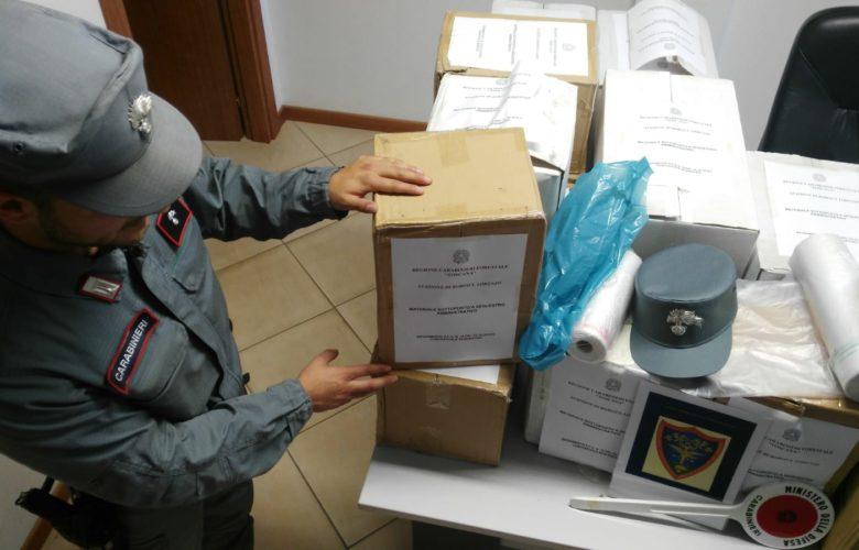 buste di plastica sequestrate carabinieri forestali (2)