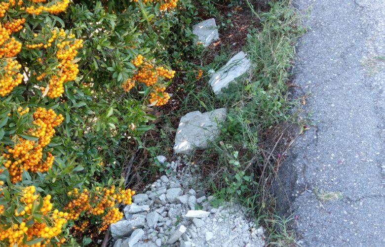 materiali di risulta rifiuti edili abbanonati vicino parco dell'argingrosso (3)