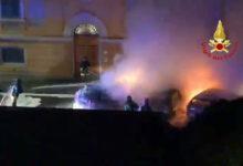 via zanella intervento vigili del fuoco auto in fiamme (2)