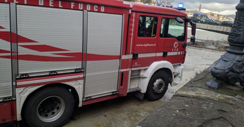 Intervento vigili del fuoco Ponte Vespucci