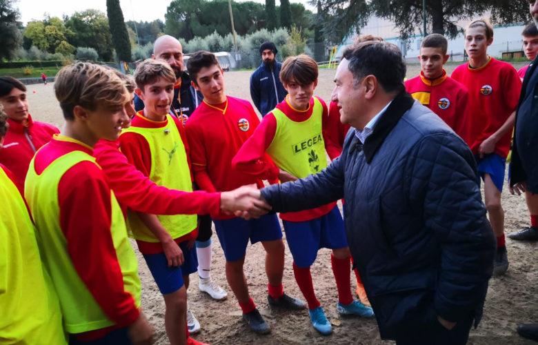 Joe Barone incontra i giocatori della Cattolica Virtus