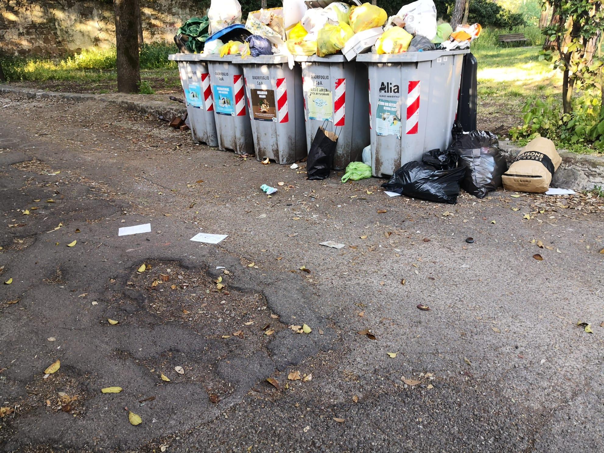 Sempre in via di San Vito,  nella parte collinare, al prato dello strozzino: ci sono evidenti problemi  nella raccolta dei rifiuti o forse qui converge troppo utenza. Fatto sta che l'immagine  racconta un forte degrado di una delle parti più pregevoli del nostro quartiere