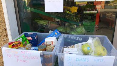 spesa solidarietà minimarket mabri