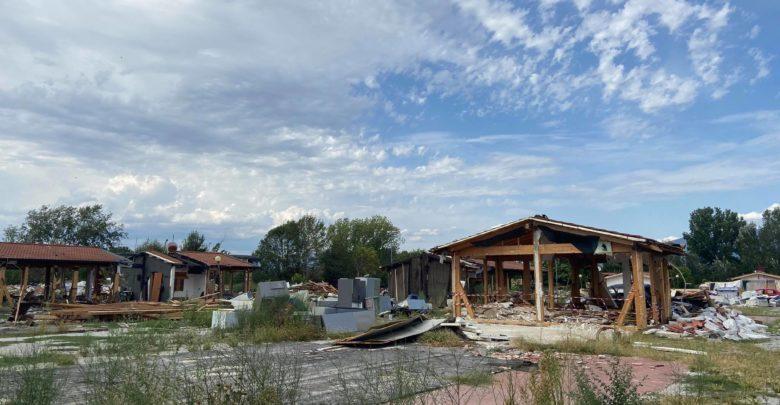 Il campo rom del Poderaccio, ormai sgomberato da agosto 2020