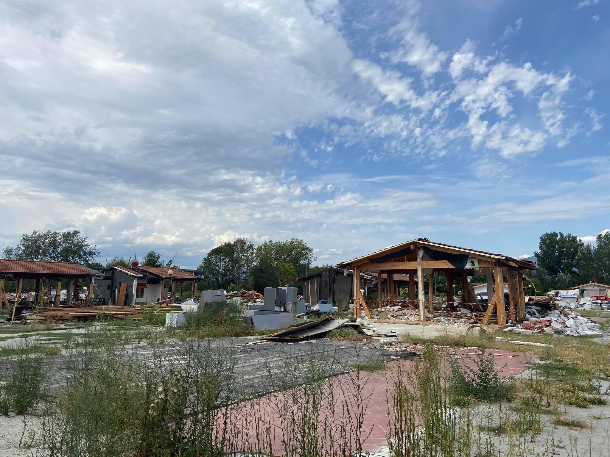 Il campo rom del Poderaccio, sgomberato lo scorso mese