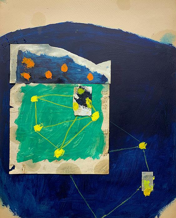 Marco Ferri, Necessarie irrilevanze, tecnica mista su carta, 67x54 cm, Credits Galleria d'arte La Fonderia