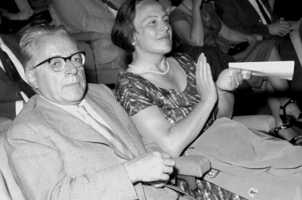 L'allora segretario del Pci Palmiro Togliatti e Nilde Iotti , immagine d'archivio Ansa t