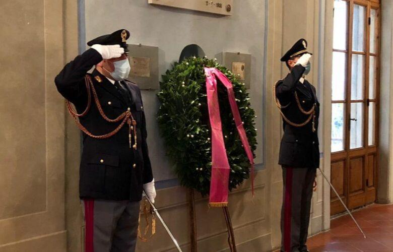 commemorazione caduti Polizia Questura firenze 2 Novembre 2020