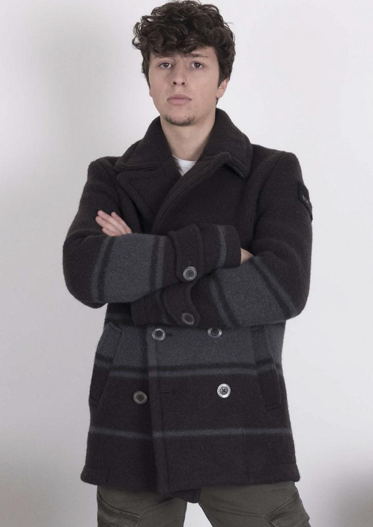 Cappotto uomo ricavato da coperta Esercito