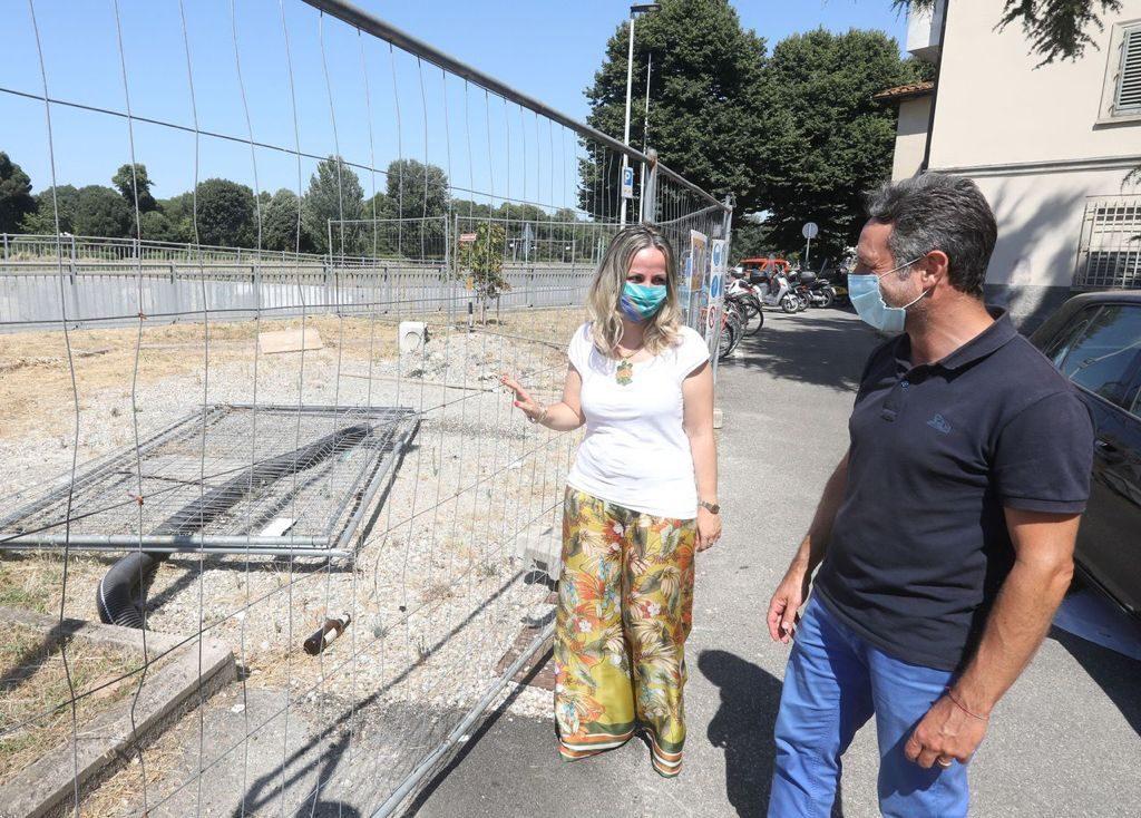 L'assessora Cecilia Del Re e il presidente del Quartiere 4 Mirko Dormentoni