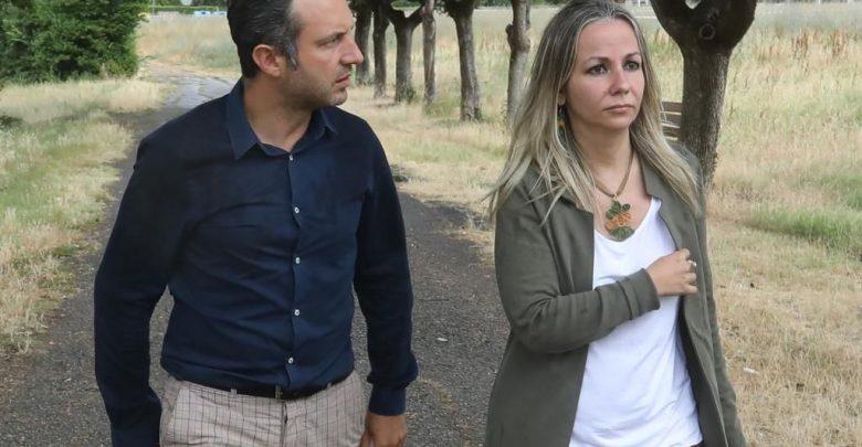 Il presidente di Quartiere 4 Mirko Dormentoni e l'assessore all'Ambiente Cecilia Del Re in un sopralluogo al parco nascituro