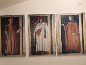 I tre grandi poeti Dante Alighieri, Giovanni Boccaccio e Francesco Petrarca