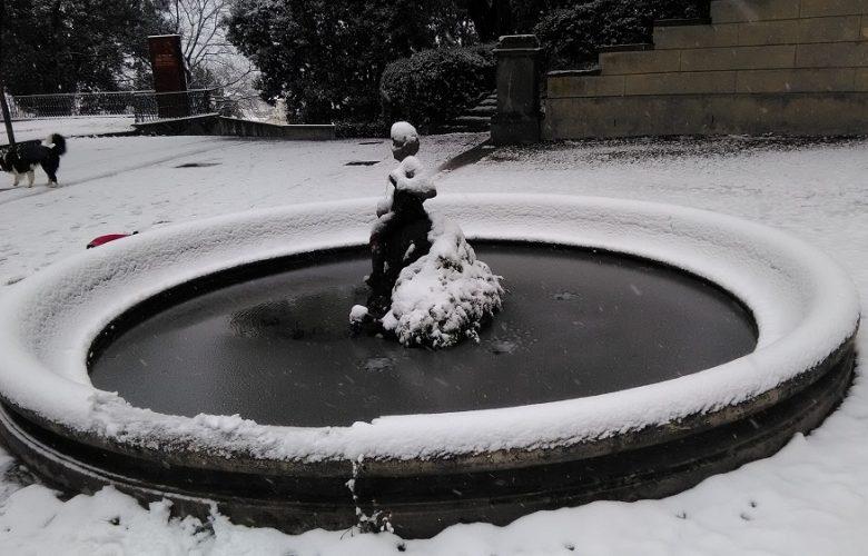 fontana villa strozzi neve